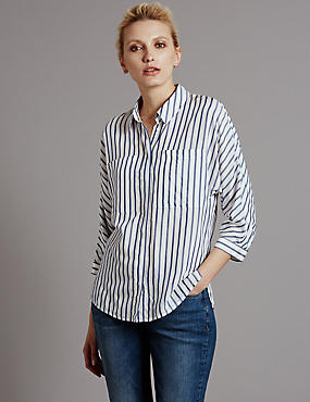 3/4 Sleeve Striped Blouse