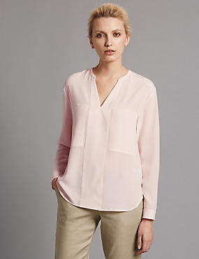 Pure Silk Tailored Fit Blouse