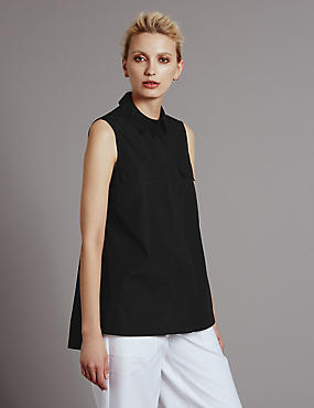 Pure Cotton 2 Pocket Utility Blouse