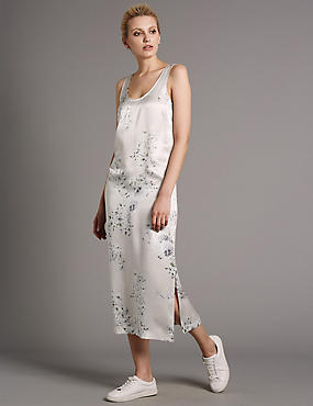 Pure Silk Floral Shift Dress