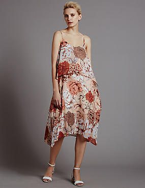 Double Layered Floral Shift Dress