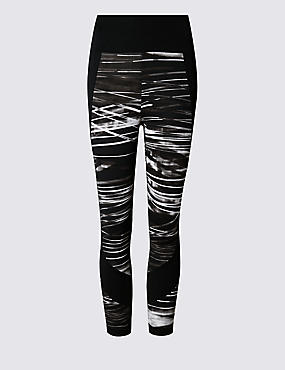 Water Striped Cropped Leggings