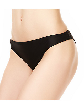 Ruched Brazilian Bikini Bottoms Clothing