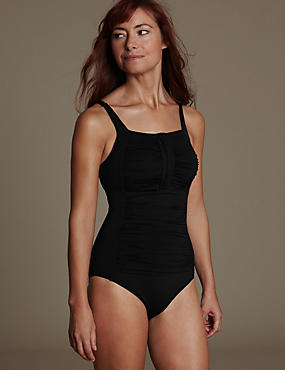 Post Surgery Ruched Swimsuit with Secret Slimming™