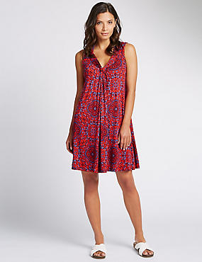 Medallion Print Vest Shift Dress
