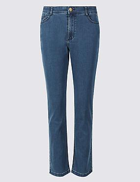 Mid Rise Slim Fit Jeans, MEDIUM BLUE MIX, catlanding