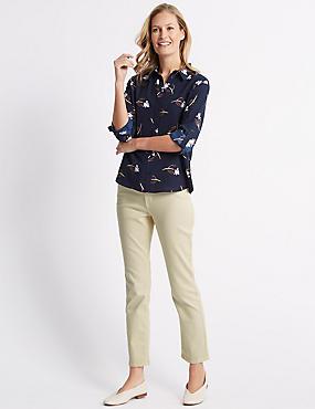 Mid Rise Slim Fit Jeans, ECRU, catlanding