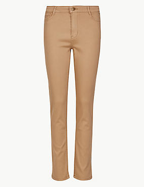 Mid Rise Slim Fit Jeans, LIGHT BUFF, catlanding