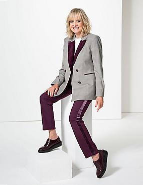 Velvet Mid Rise Skinny Leg Jeans , PLUM, catlanding
