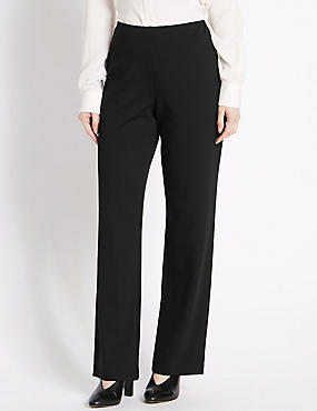 PETITE Pull on Slim Leg Trousers