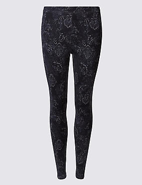 Cotton Rich Printed Leggings
