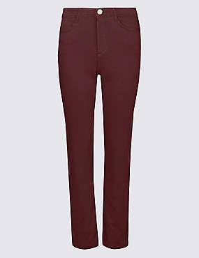 Straight Leg Roma Rise Jeans , DARK BERRY, catlanding