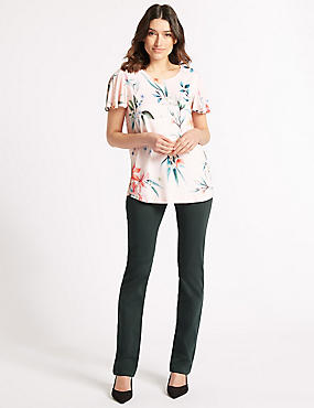 Straight Leg Roma Rise Jeans , CEDAR, catlanding