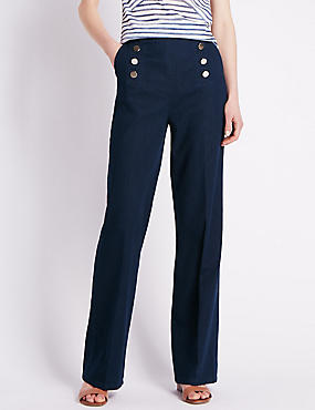Roma Rise Wide Leg Jeans