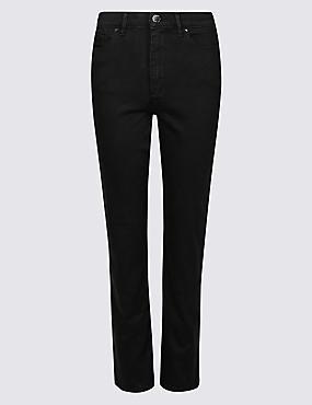 Sculpt & Lift Roma Rise Straight Leg Jeans, BLACK, catlanding