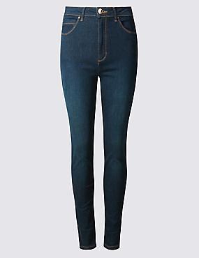 Sculpt & Lift Roma Rise Skinny Leg Jeans, DARK INDIGO MIX, catlanding