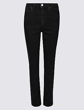 Sculpt & Lift Roma Rise Slim Leg Jeans, BLACK, catlanding