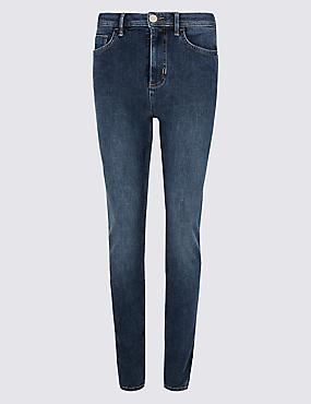 Roma Rise Skinny Leg Jeans , MEDIUM BLUE, catlanding