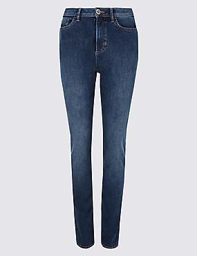 360 Contour Slim Leg Roma Rise Jeans , MEDIUM BLUE, catlanding