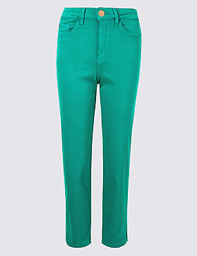 Sculpt & Lift Roma Rise Cropped Jeans , SEA GREEN, catlanding