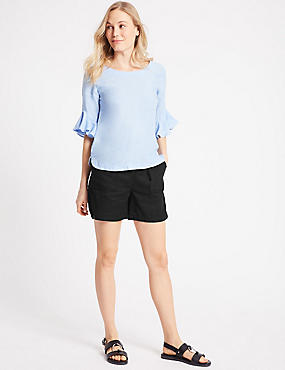 Linen Rich Casual Shorts