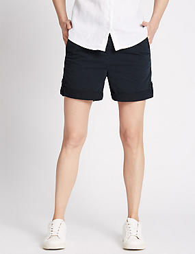 Pure Cotton Rolled Hem Chino Shorts