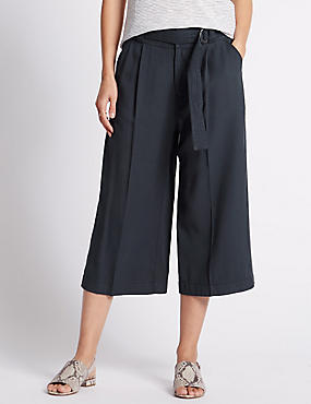 Centre Crease Culottes with Belt