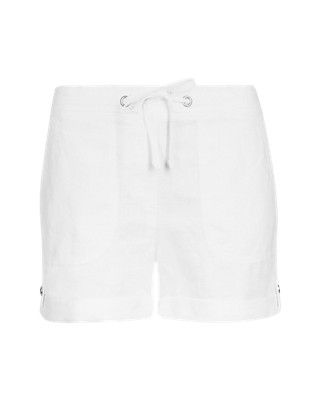 Pure Linen Turn Up Shorts Clothing