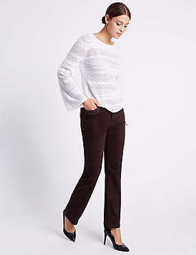 Roma Rise Straight Leg Trousers