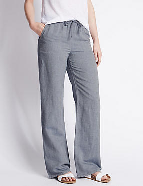 womens grey linen pants - Pi Pants
