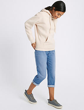 Mid Rise Cropped Slim Leg Jeans