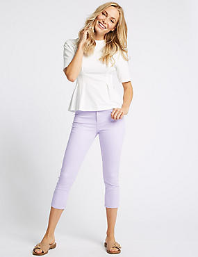 Mid Rise Super Skinny Leg Cropped Jeans , LILAC, catlanding