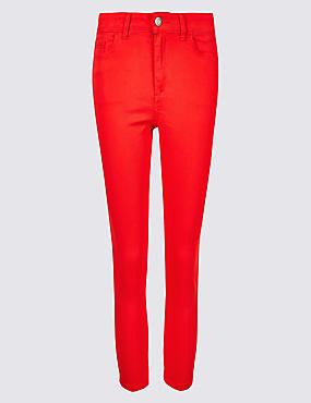 Mid Rise Super Skinny Leg Cropped Jeans , CHILLI, catlanding