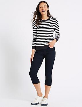 Mid Rise Super Skinny Leg Cropped Jeans , INDIGO, catlanding
