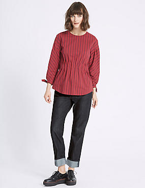 Mid Rise Relaxed Slim Jeans