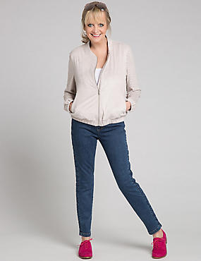 Side Plait Skinny Leg Jeans