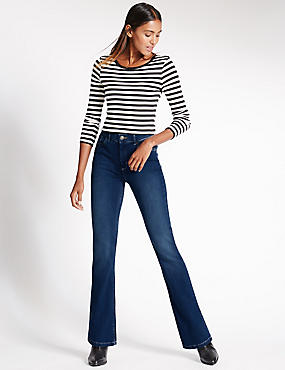 Mid Rise Boot-Cut Jeans