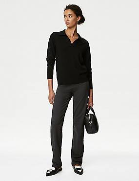 Cotton Rich Straight Leg Joggers, CHARCOAL, catlanding