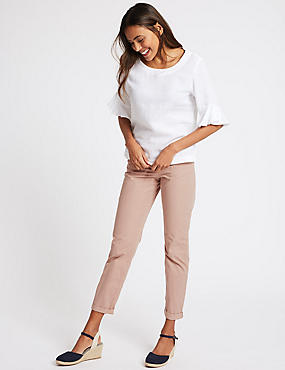 Pure Cotton Tapered Chinos, LIGHT PINK, catlanding