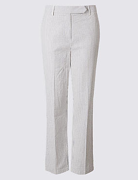 Pure Cotton Striped Trousers