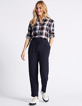 Tapered Leg Peg Trousers