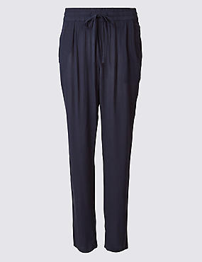 Tapered Leg Mid Rise Peg Trousers