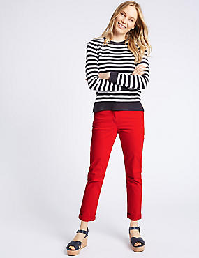Cotton Rich Chinos , RED, catlanding