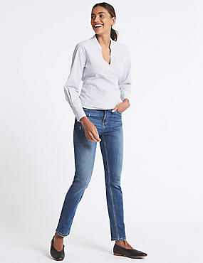 Low Rise Slim Jeans, MEDIUM BLUE MIX, catlanding