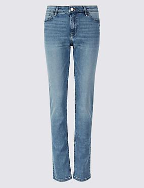 Low Rise Slim Jeans, LIGHT INDIGO, catlanding