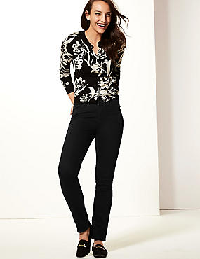 Mid Rise Slim Leg Jeans, BLACK, catlanding