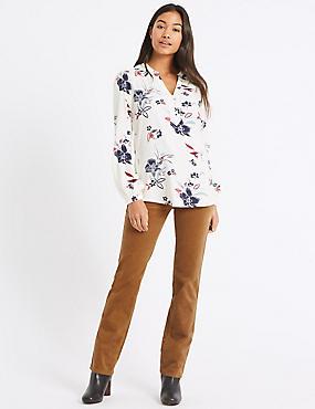 Cotton Rich Straight Leg Corduroy Trousers, CAMEL, catlanding