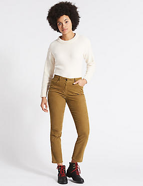 Cotton Rich Corduroy Slim Leg Trousers