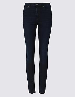 Sculpt & Lift Mid Rise Skinny Leg Jeans, BLUE/BLACK, catlanding