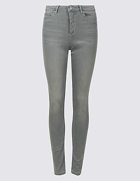Sculpt & Lift Mid Rise Skinny Leg Jeans, GREY, catlanding